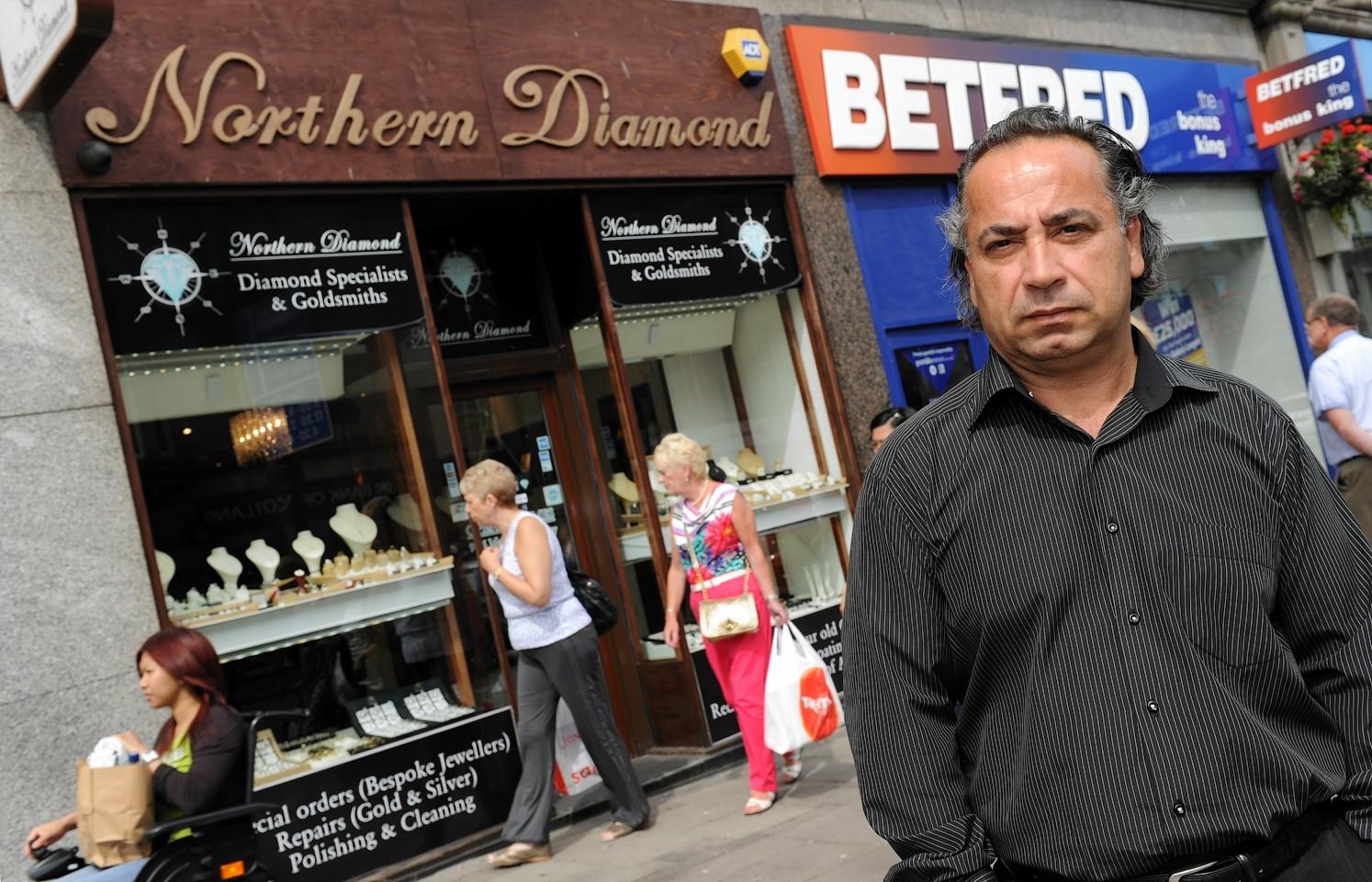 Oscar Ozdaslar outside his store Northern Diamonds