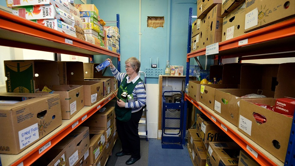 Generic photograph of a food bank