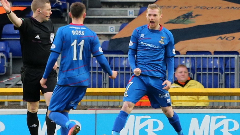 Fans have the chance to watch Billy Mckay and his Caley Thistle team mates for £5 this weekend.