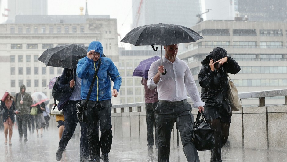 Aberdeen has seen 28mm of rainfall while the UK heads towards its driest September
