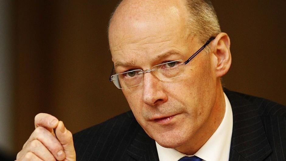 Finance Secretary John Swinney's claims of currency talks with Bank of England were denied.