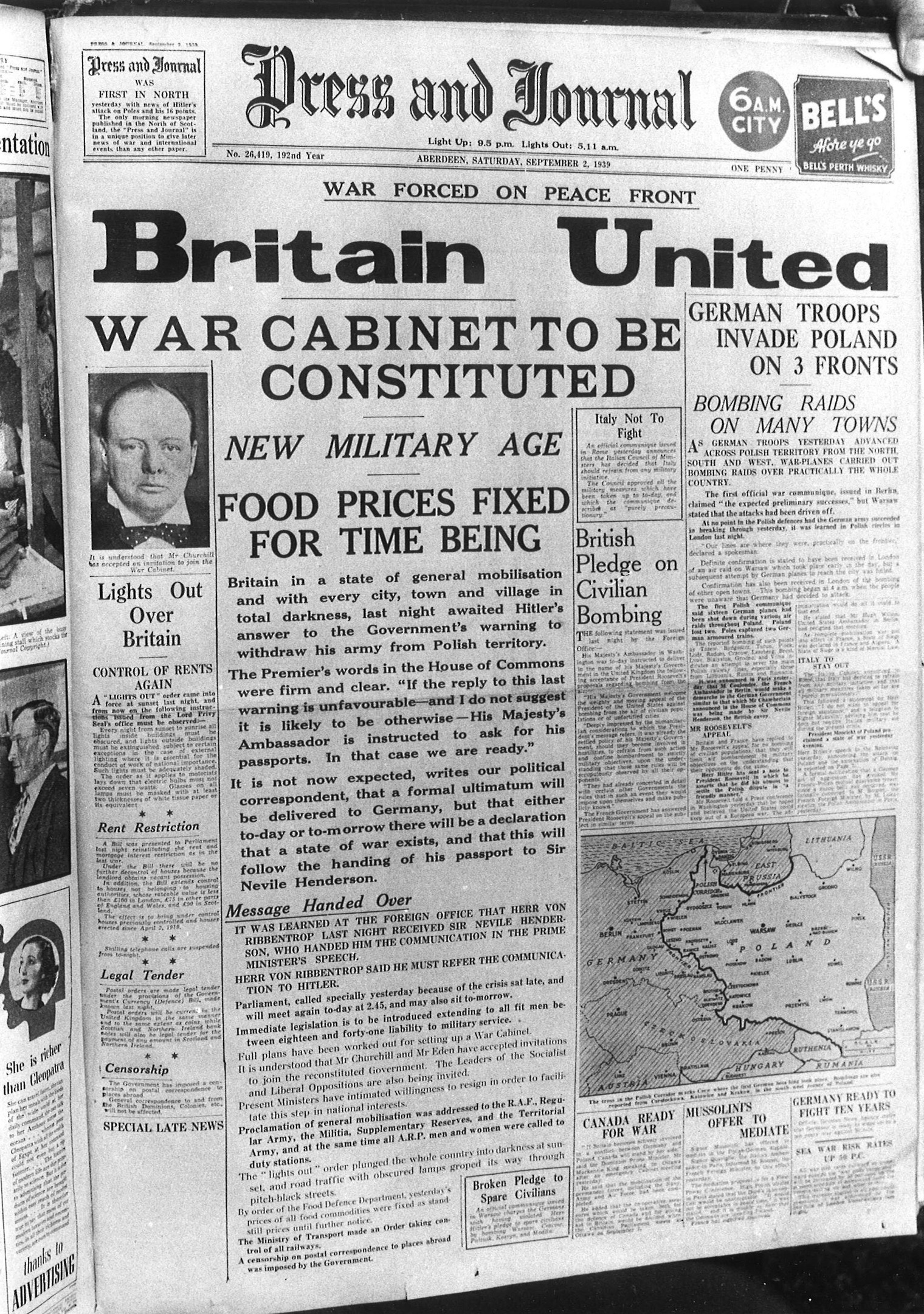 The Press and Journal, 2 September 1939
