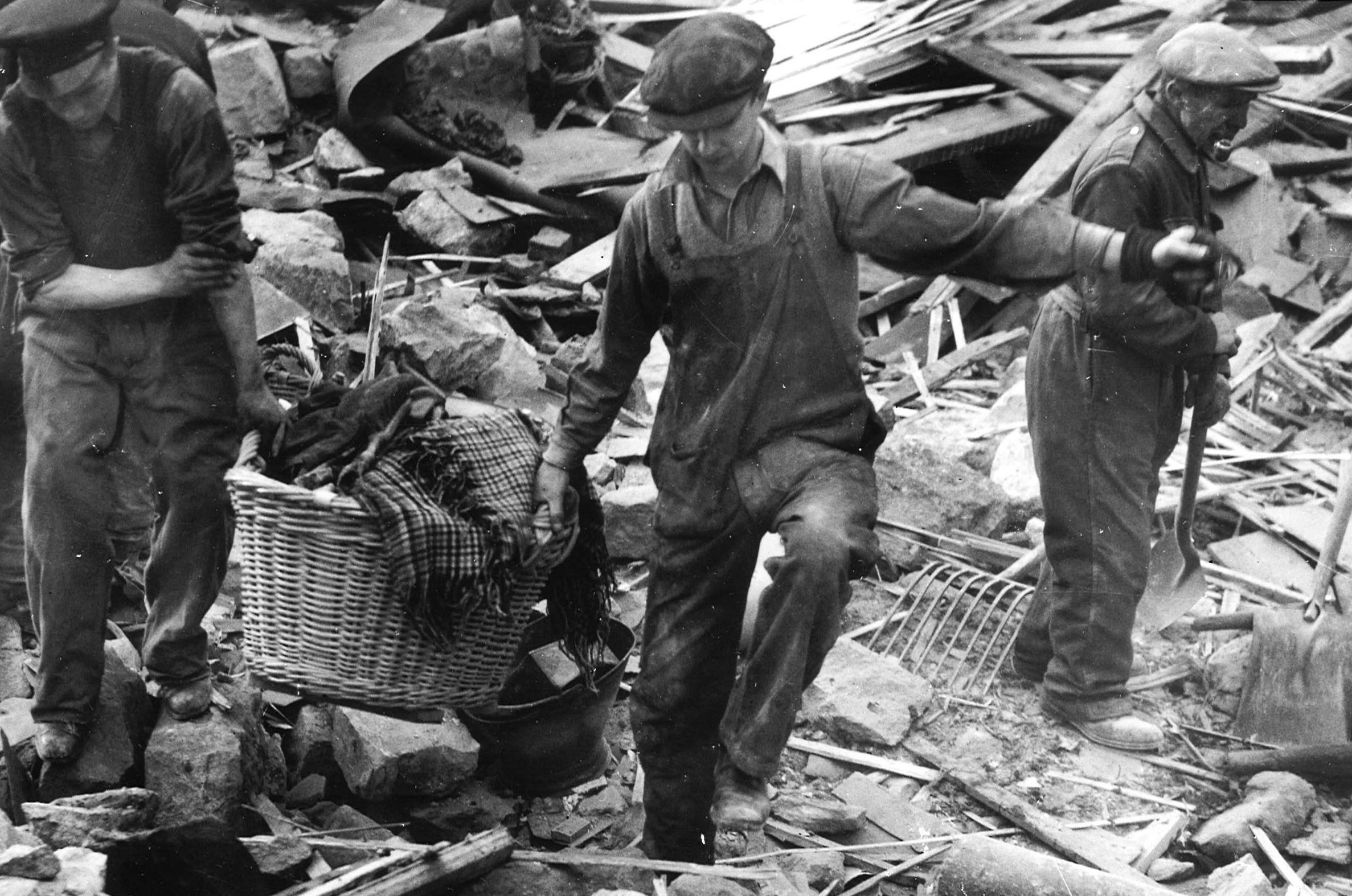 Bomb damage in Peterhead, 29 September 1941