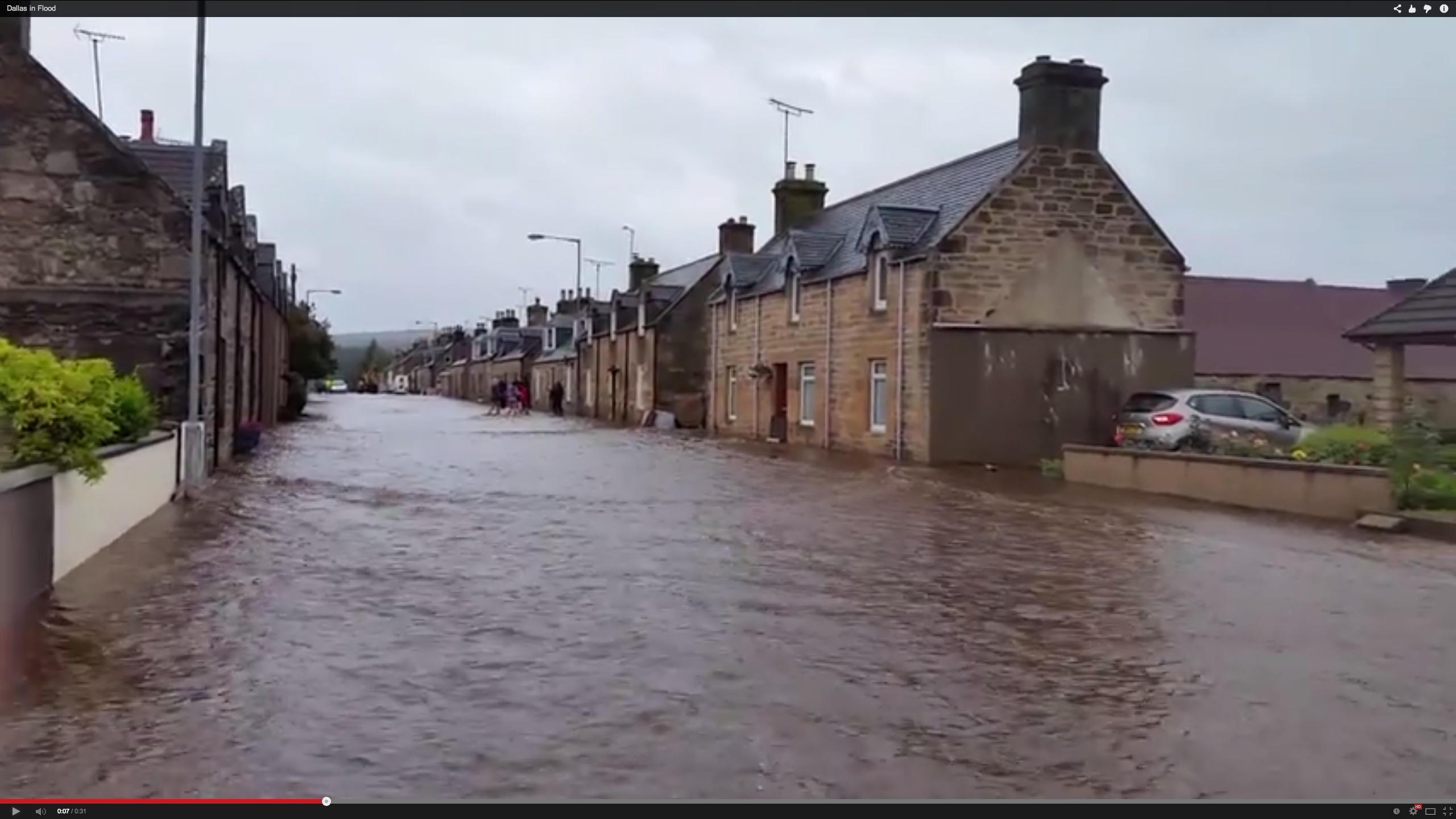 Flooding in Moray in August 2015