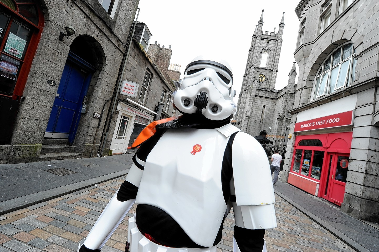 Stormtrooper on the streets of Aberdeen