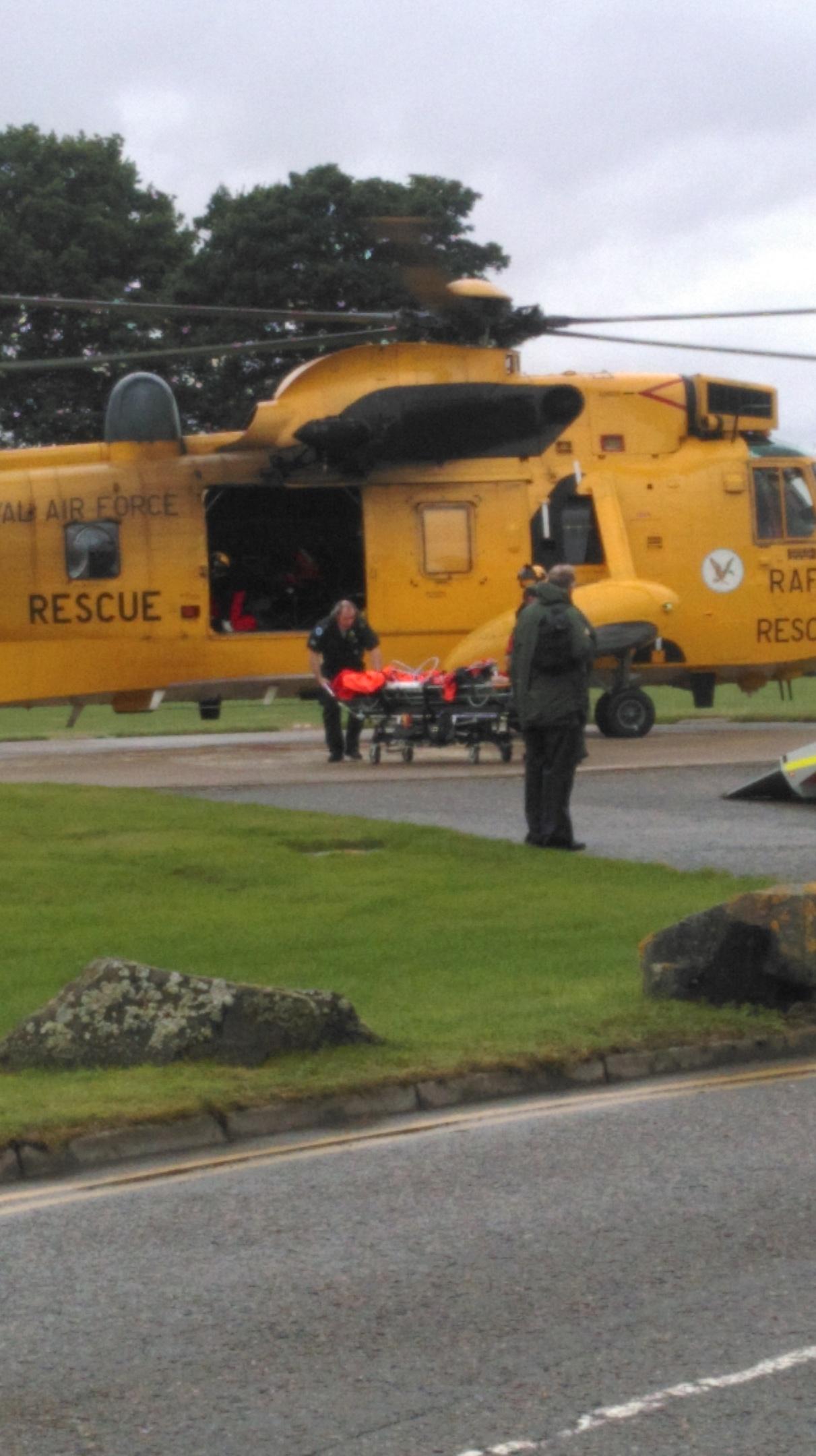 Rescue 137 arrives at Raigmore