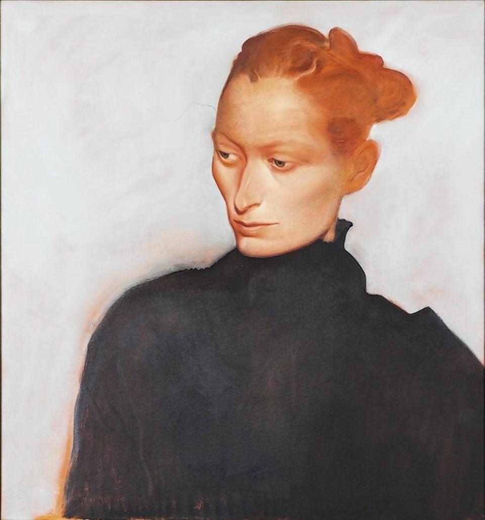 John Byrne's portrait of Tilda Swinton