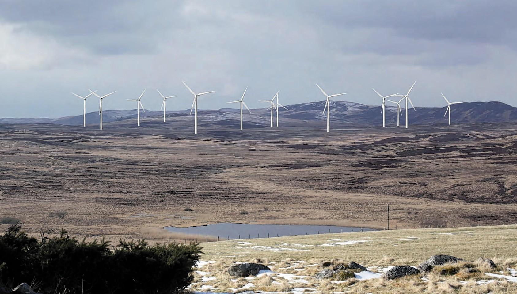 The windfarm at Tressady