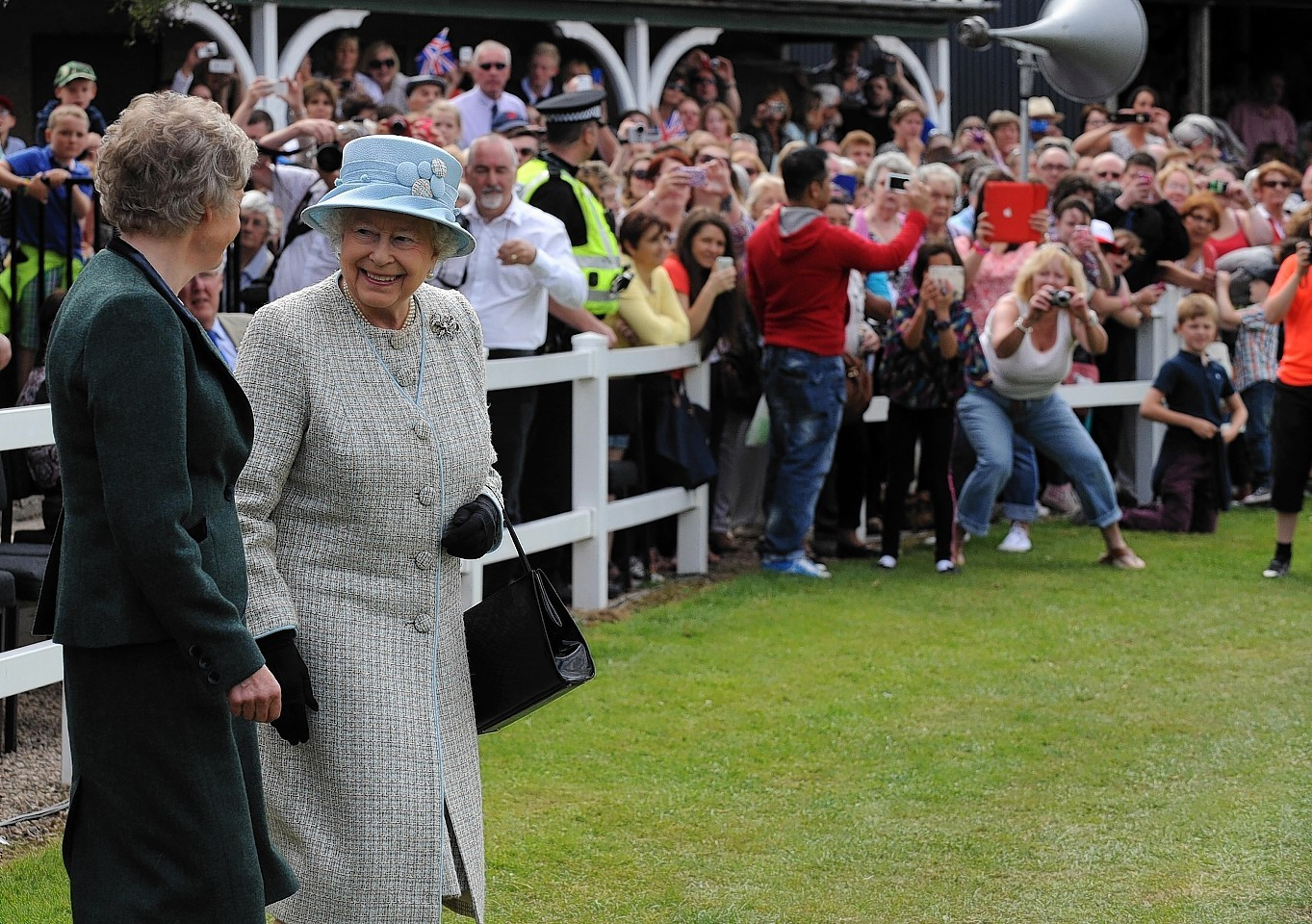 The Queen is welcomed at the Turriff Show