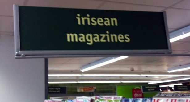 A Co-operative in Wales has confused the Welsh and Gaelic languages