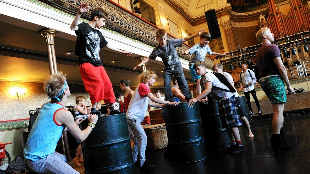 Local actors rehearse Lord of the Flies at Aberdeen Music Hall