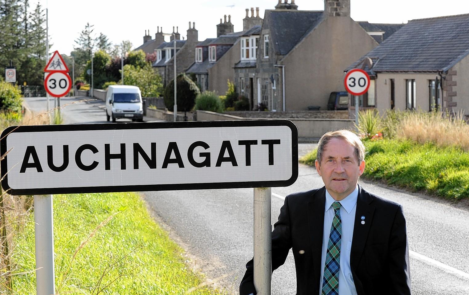 Councillor Jim Ingram at Auchnagatt