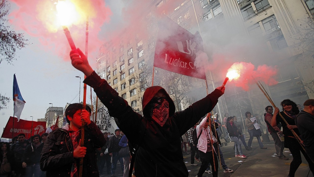 Tens of thousands of students protested in the third massive march of the year in Chile, unhappy with the pace of education reforms
