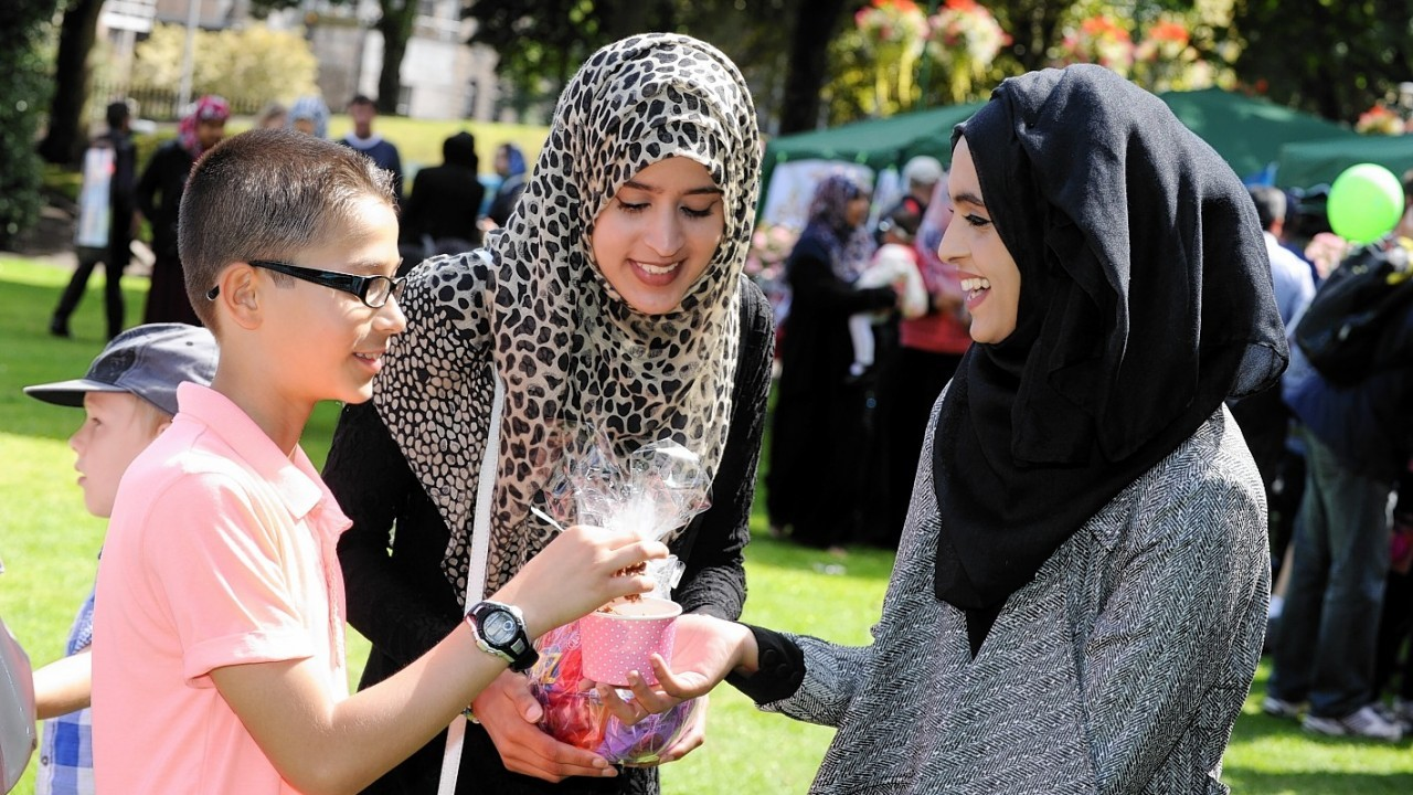 Eid in the Garden, celebrating the end of Ramadan, at Union Terrace Gardens.