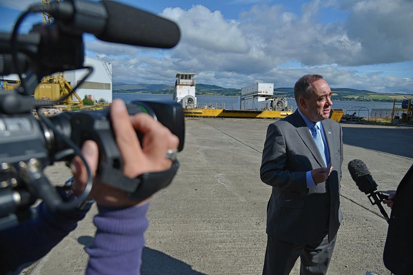 First Minister Alex Salmond at Ferguson Shipbuilders