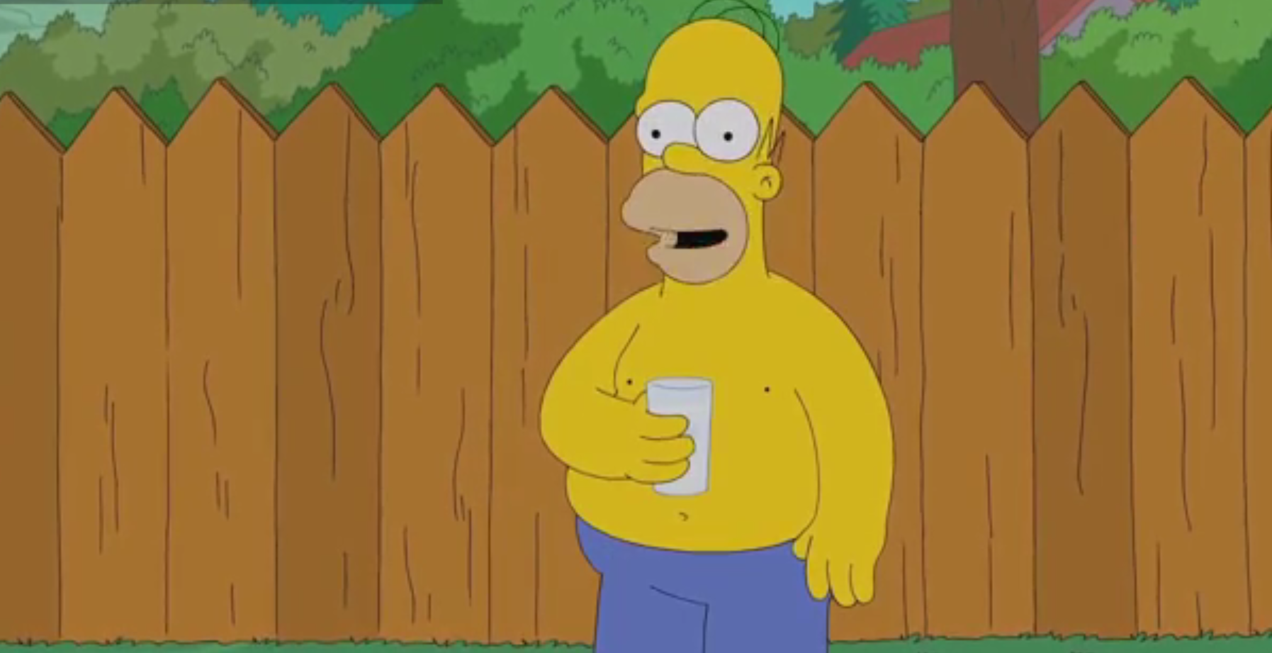 """Homer Simpson is the latest """"celeb"""" to take part in the Ice Bucket Challenge"""