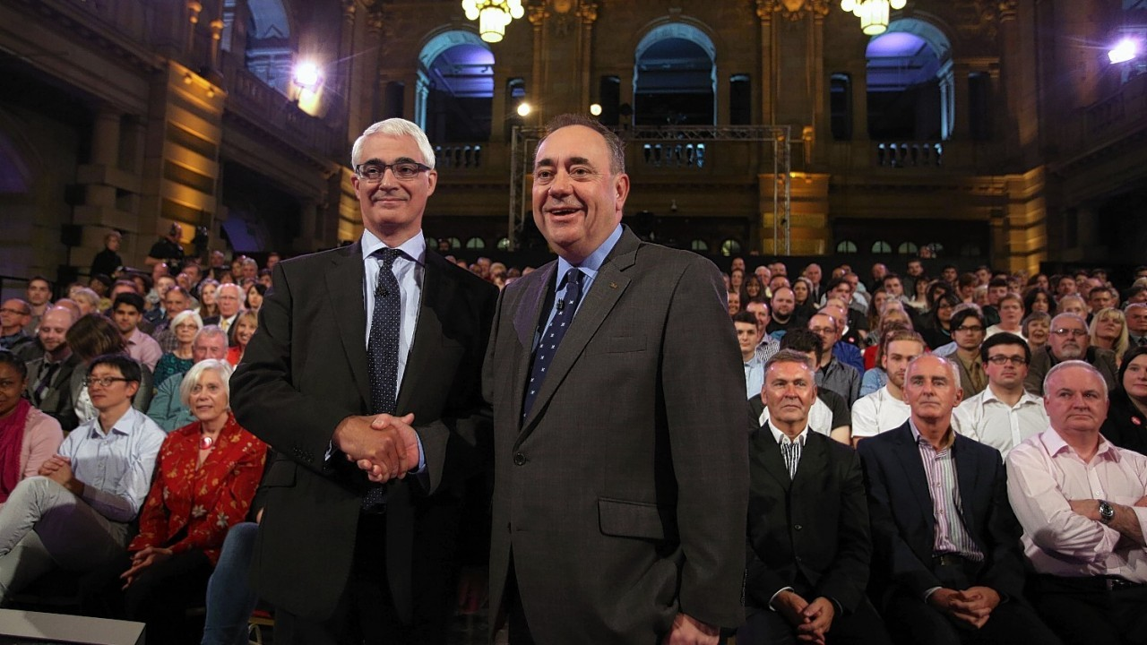 Alex Salmond and Alistair Darling in the televised debate