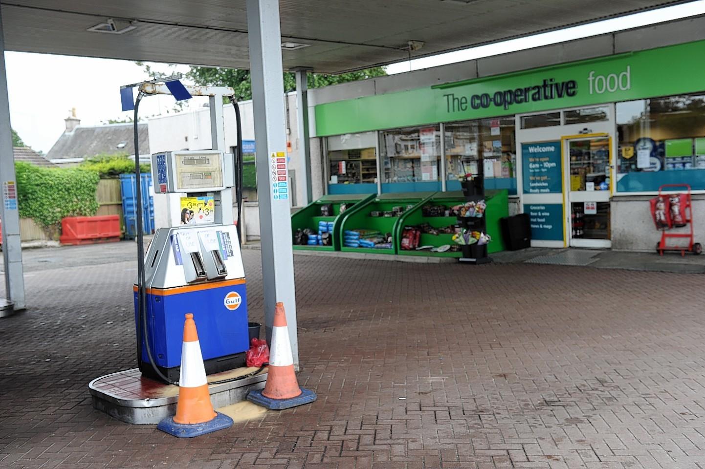 Nairn petrol station crash