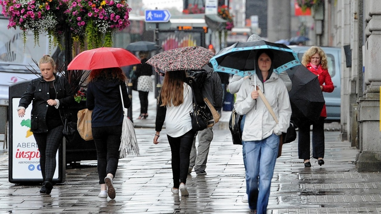Rain leaves Aberdeen and much of the north-east drenched