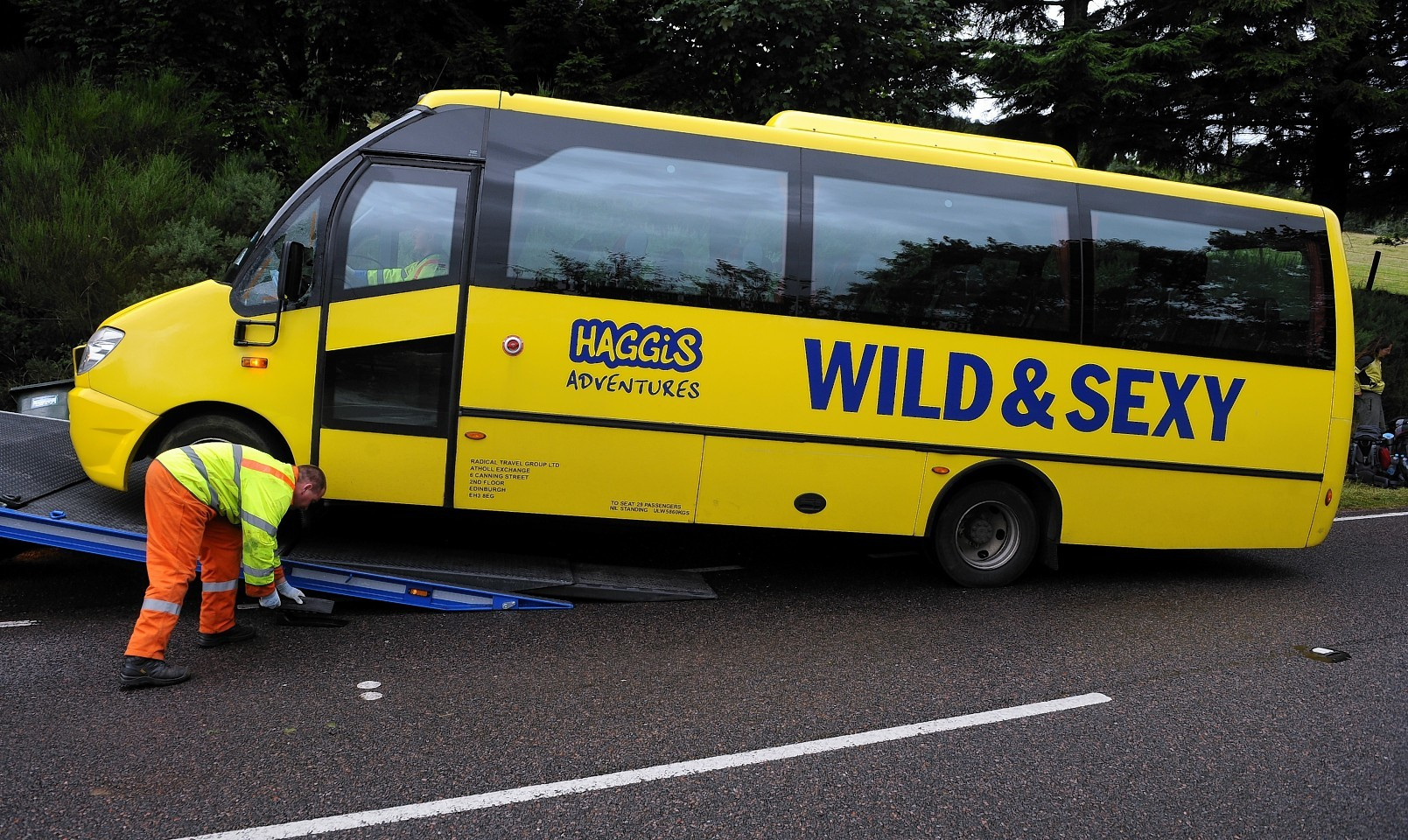 The Wild & Sexy bus was involved in a crash on the A82