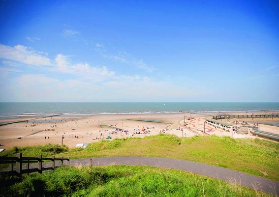 De Haan coastline in Belgium