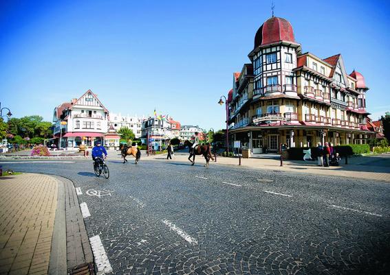 The beautifully restored Belle Epoque neighbourhood of De Haan