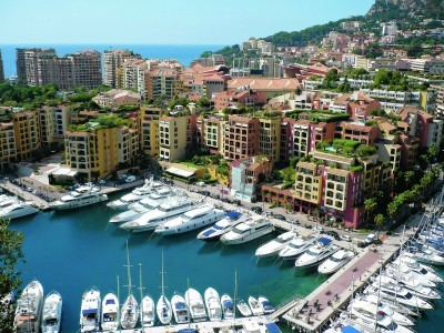 Luxury yachts at Port De Fontvielle in Monaco