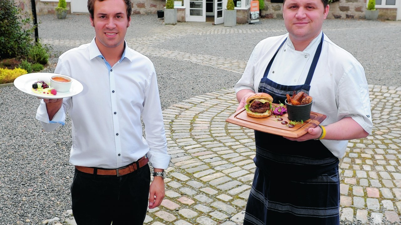 Milton Brasserie - Milton of Crathes.  Owner Jay Emerson (left) and Head Chef Bob Miller