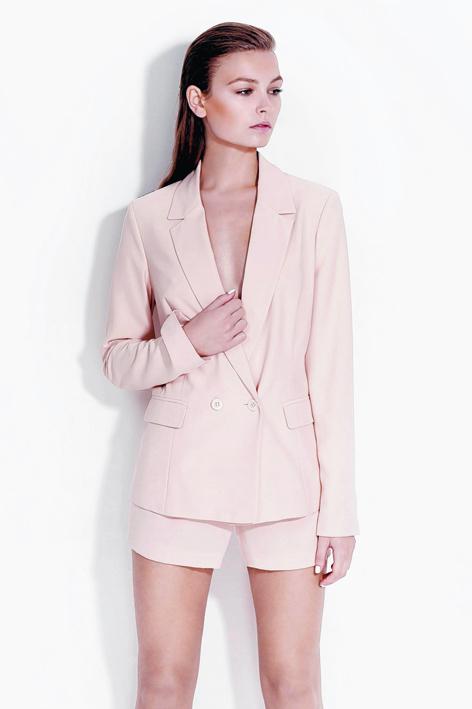 Miss Selfridge loose peach shorts