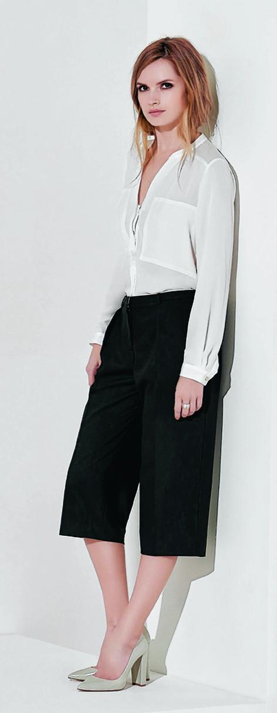 Wallis black cropped trousers