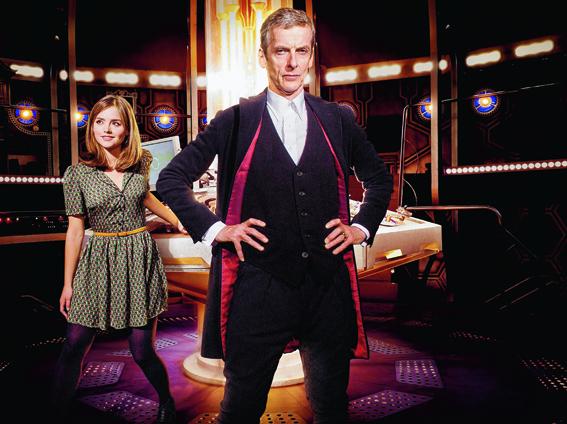 The Doctor (Peter Capaldi) with his companion Clara (Jenna Coleman)