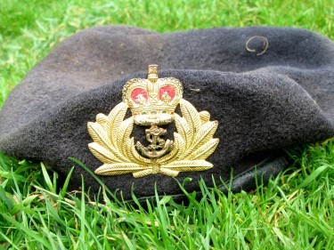 Royal Navy officer's beret washed up on north beach. By Dale Meegan