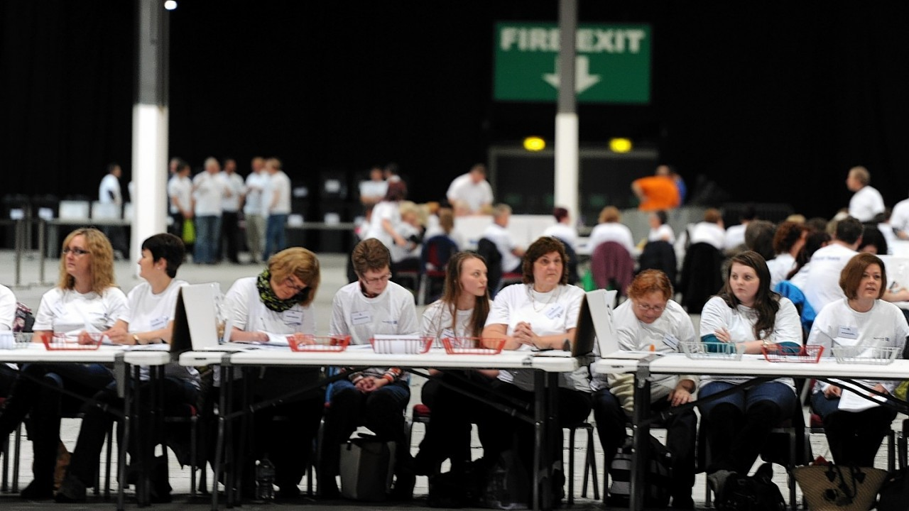 Counters have a long night ahead of them at the AECC with Aberdeen results expected at 6am