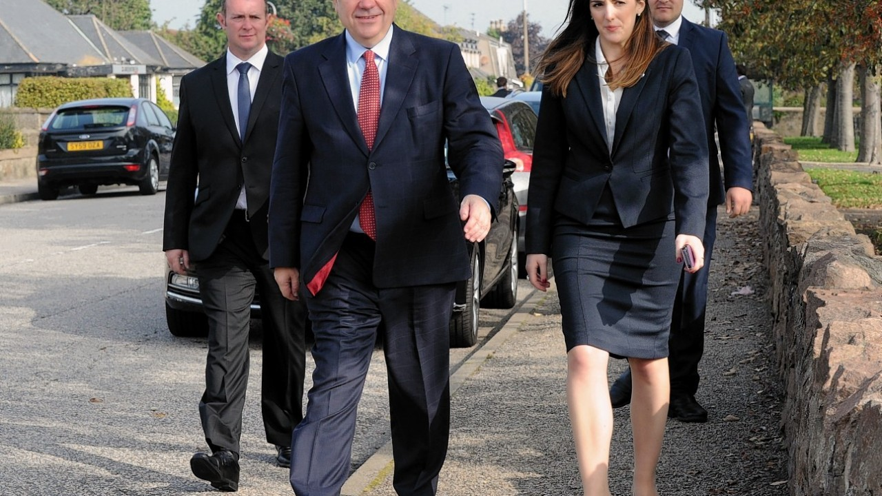 Alex Salmond on the campaign trail in Dyce
