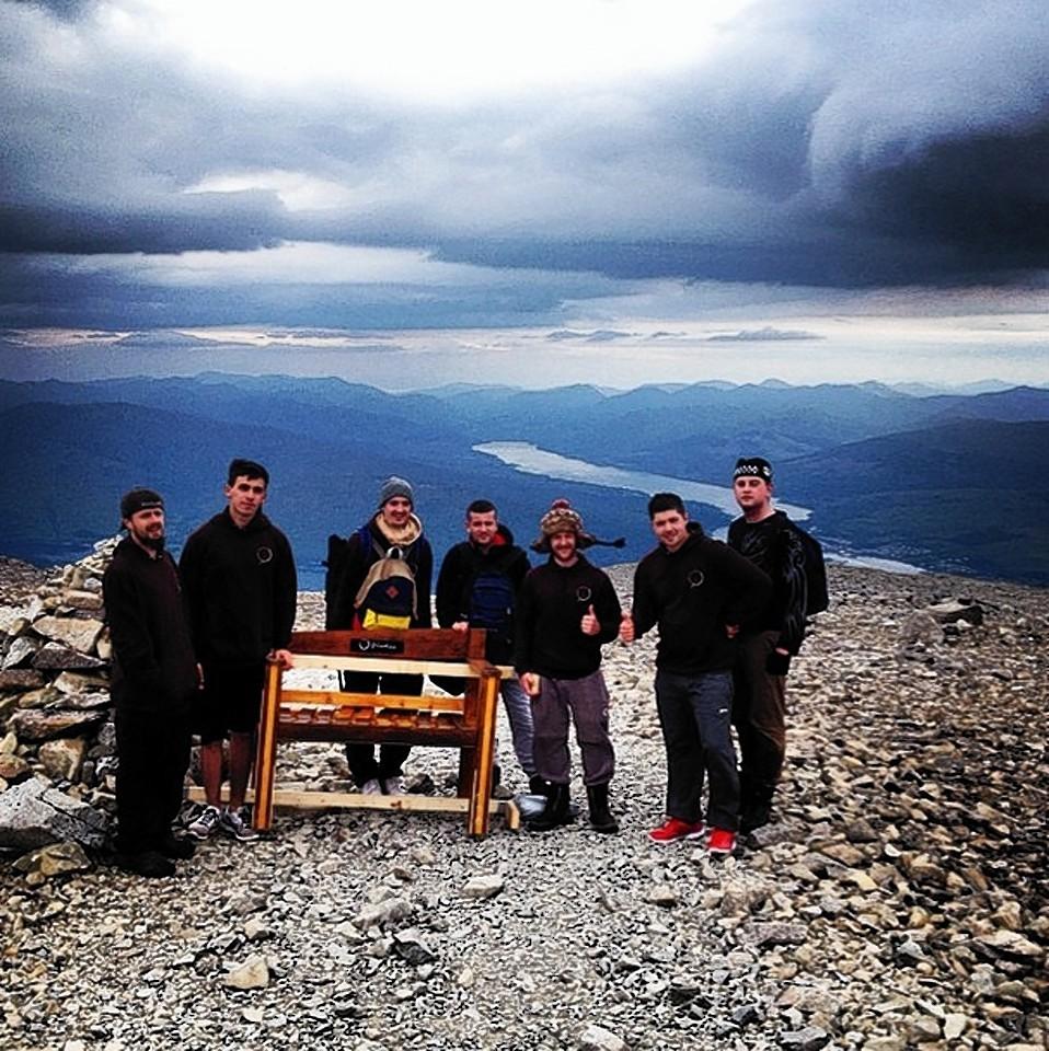 Ben Nevis bench charity stunt