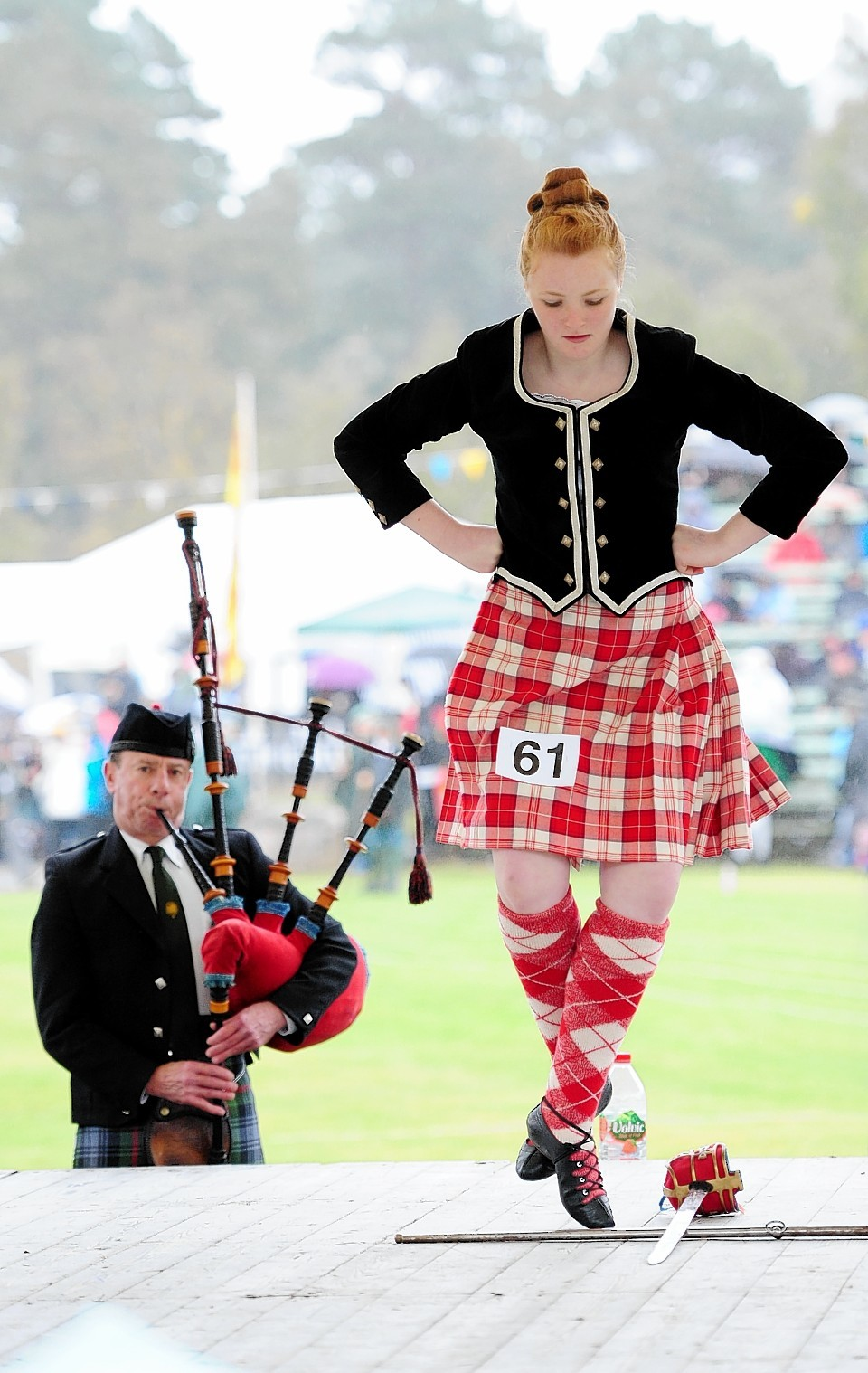 Sword dancing and piping at the gathering. Credit: Kami Thomson.