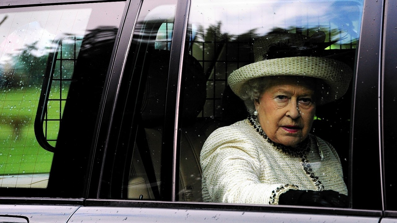 The Queen departs the Braemar Gathering. Credit: Kami Thomson.