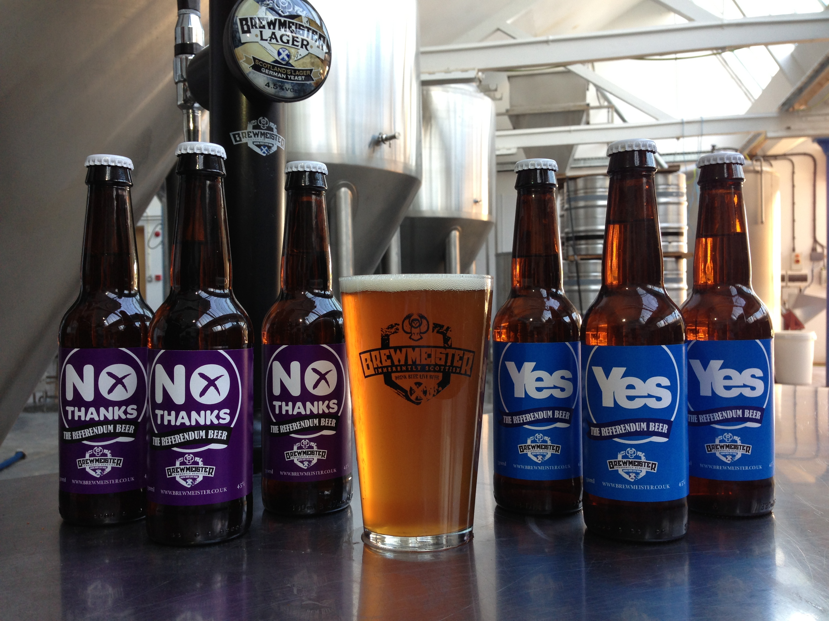Brewmeister have launched a range of Yes and No beers ahead of Indyref