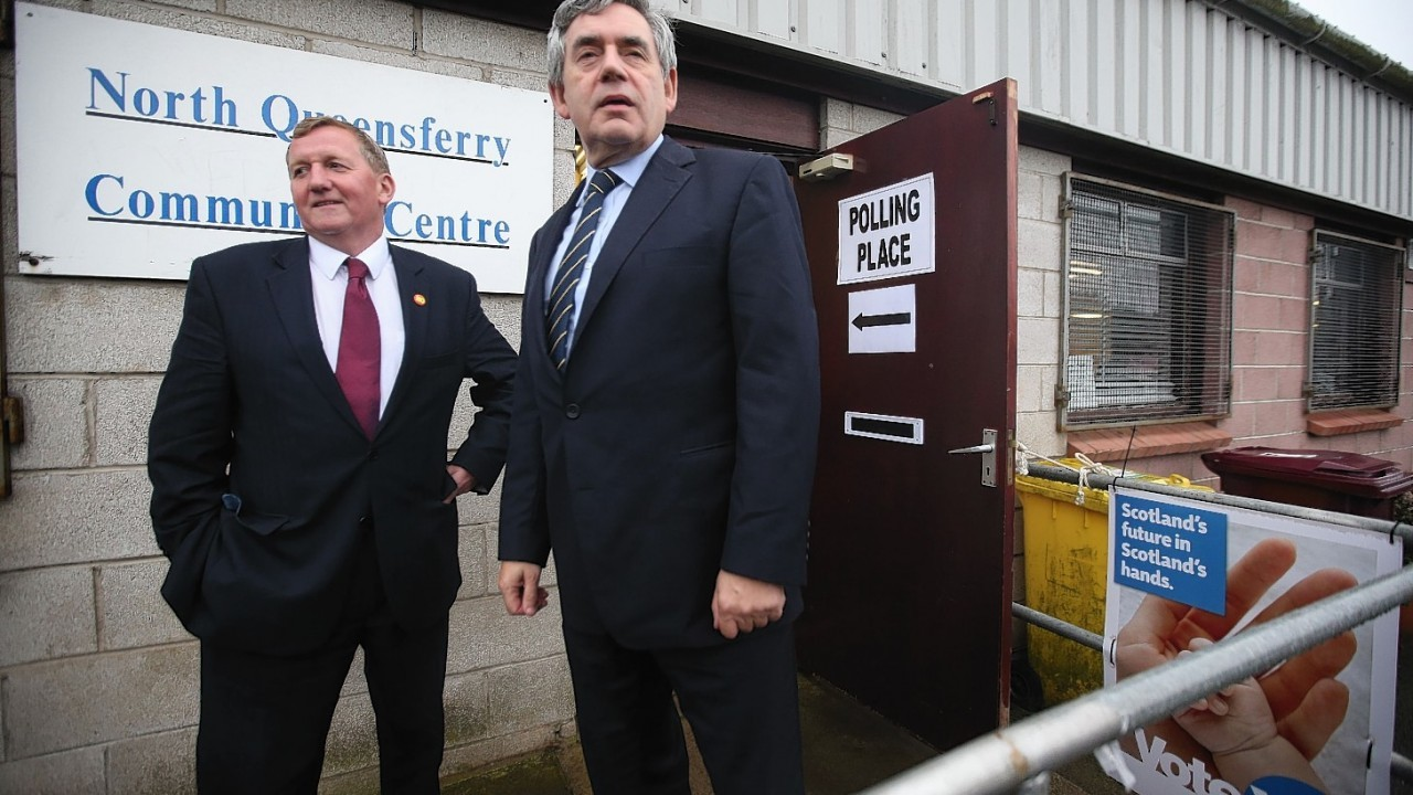 Meanwhile former Prime Minister Gordon Brown was in North Queensfery