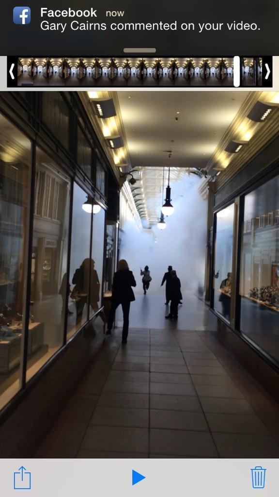 The raid in Glasgow's Argyll Arcade (pic by David McCourt: Twitter)