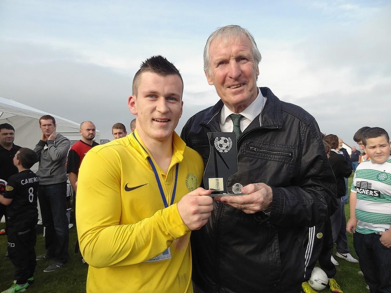 Promising young footballer Carl Macphee
