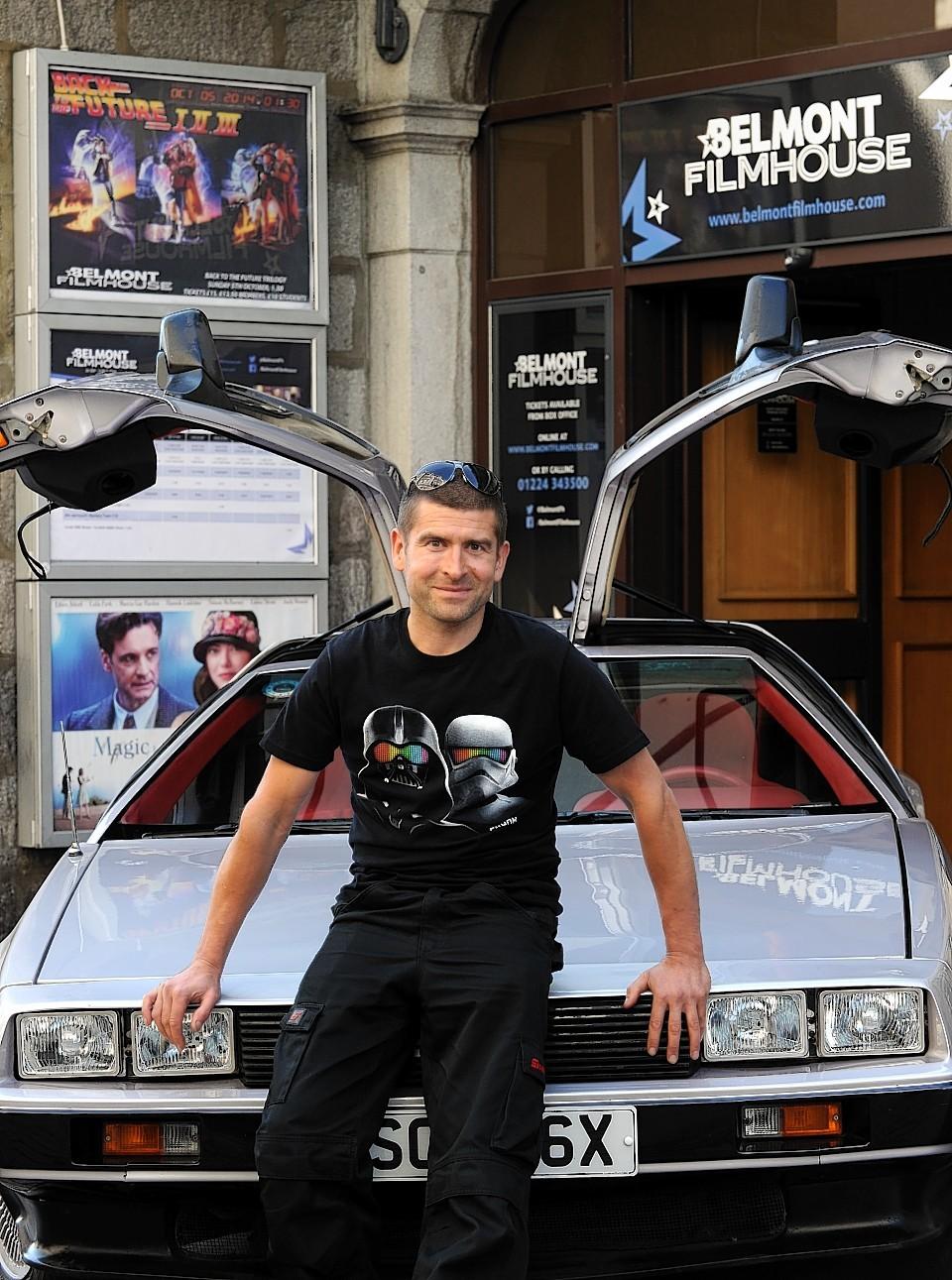 DeLorean owner, Paul Mackie