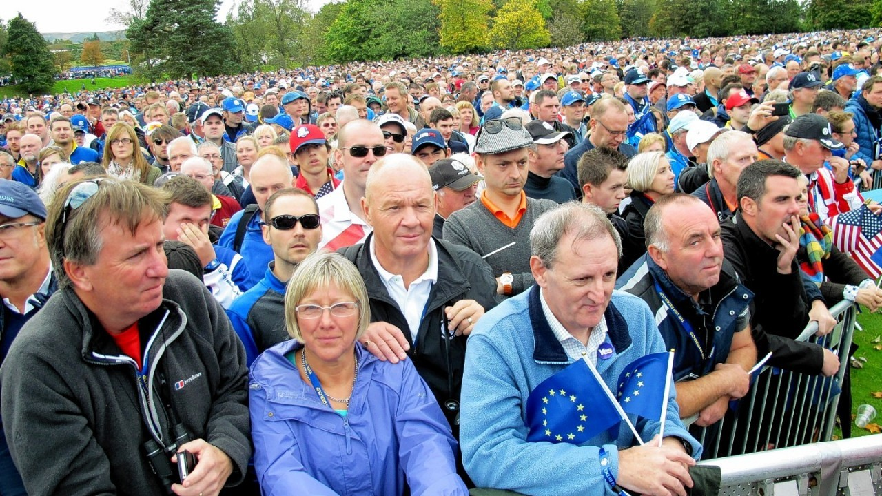 20,000 Europe and America fans packed out Gleneagles this afternoon for the Ryder Cup opening ceremony