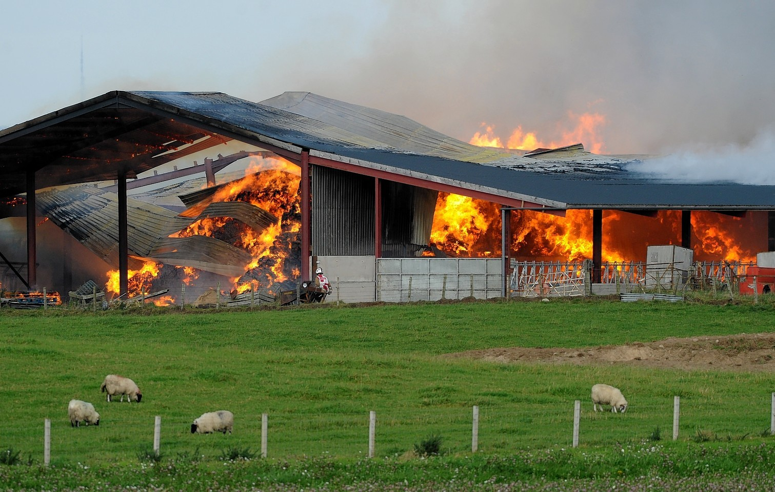 Barn fire just off the A96
