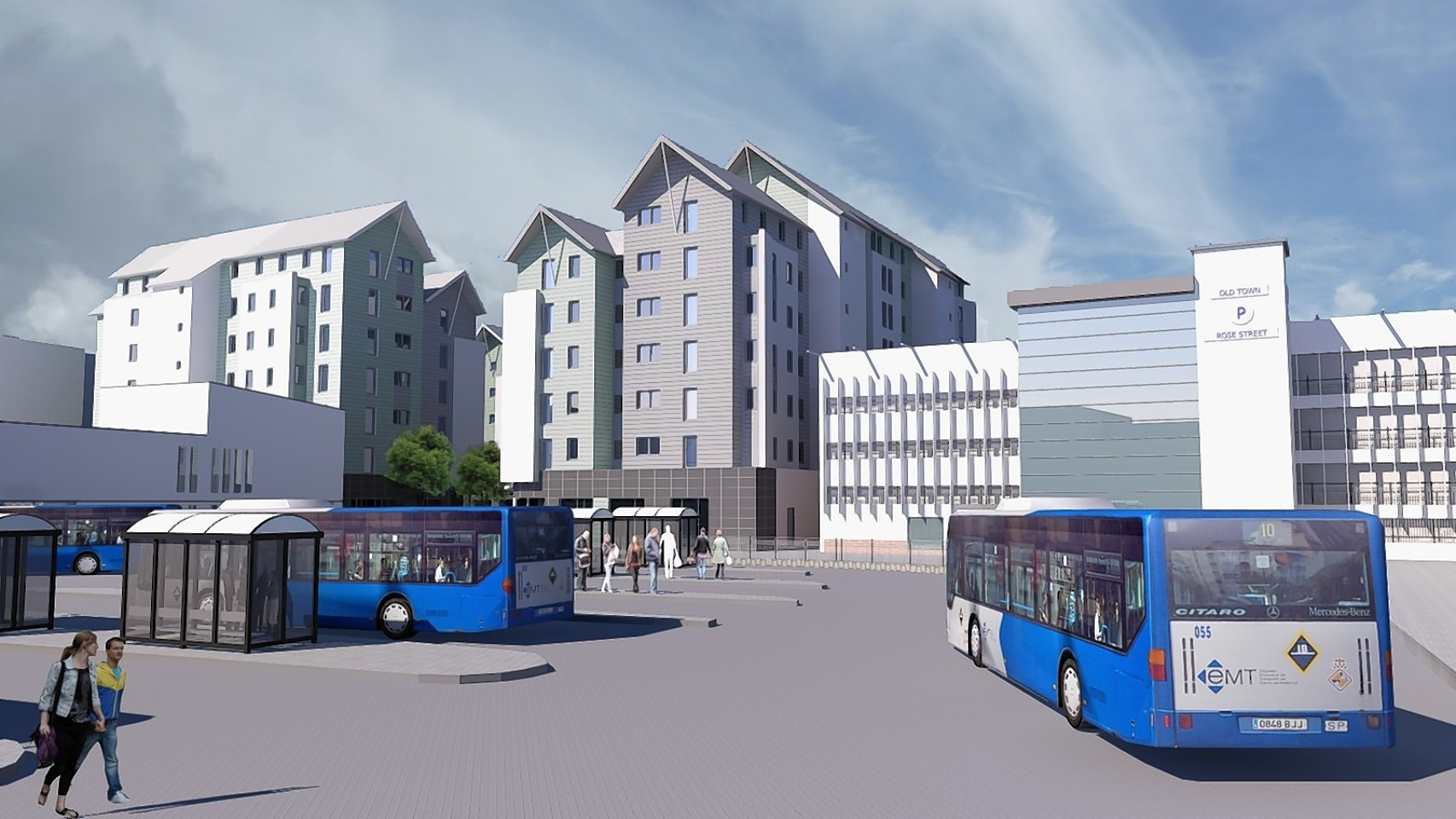 DO NOT USE - old graphic which has since been replaced  An artist's impression of the original scheme which was rejected by the Scottish Government.
