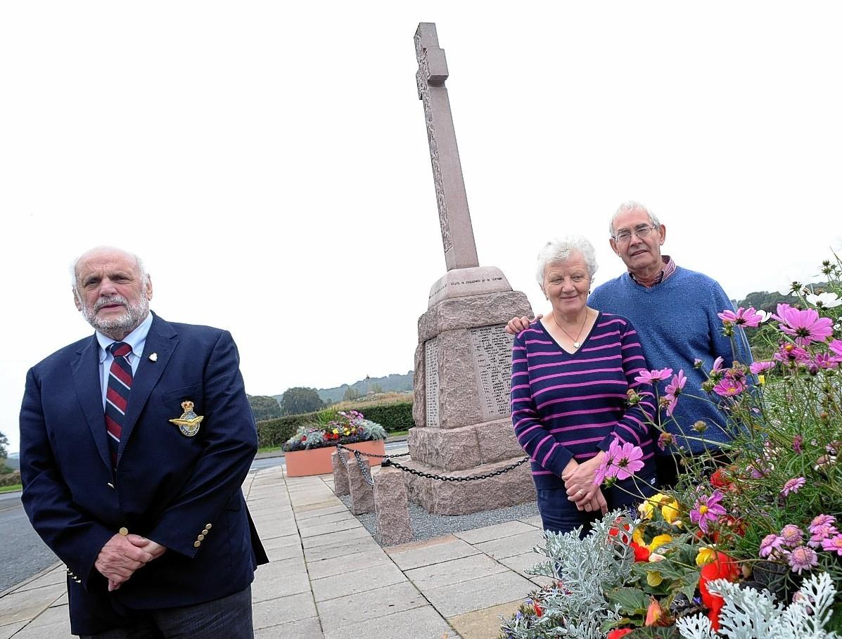 John Mackenzie of the British Legion with Leslie and Isobel Florence