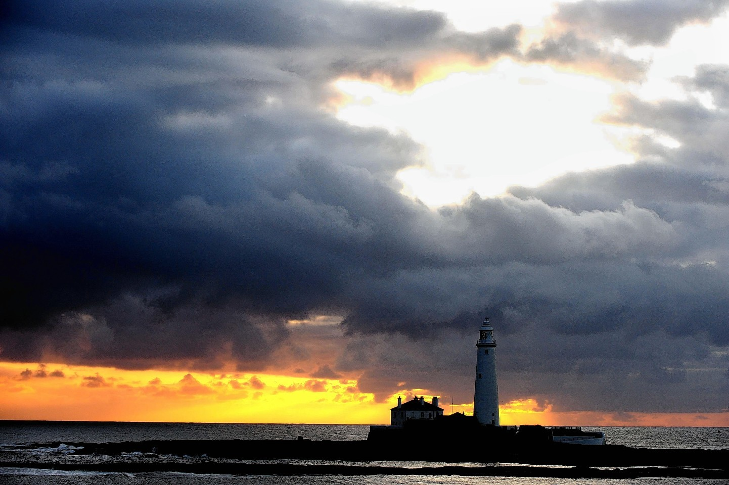St Mary's Lighthouse in Whitley Bay, East of Newcastle.