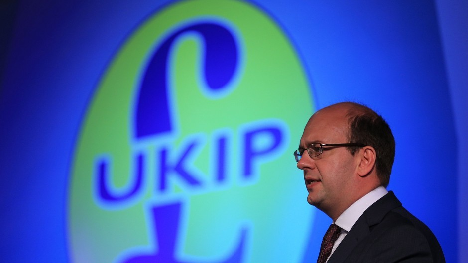 Mark Reckless delivers his speech during the Ukip annual conference at Doncaster racecourse in South Yorkshire