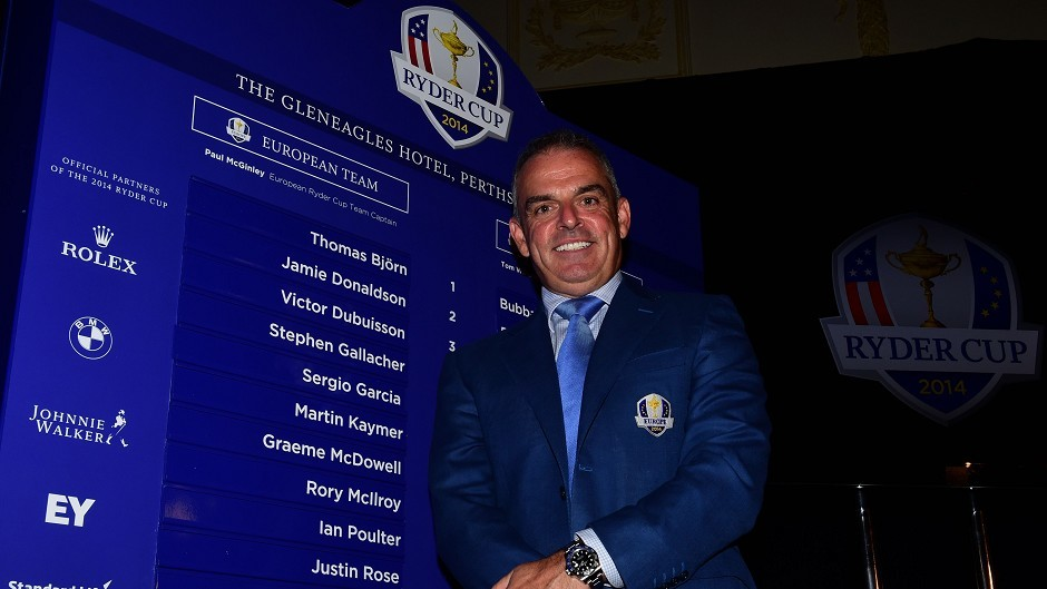 Ryder Cup captain Paul McGinley