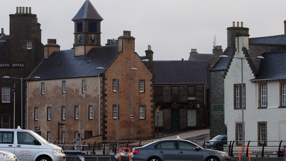 The incident happened in Lerwick